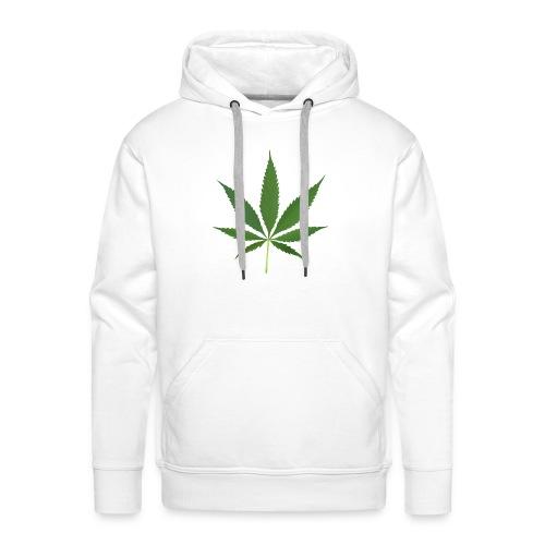 2000px-Cannabis_leaf_2 - Herre Premium hættetrøje