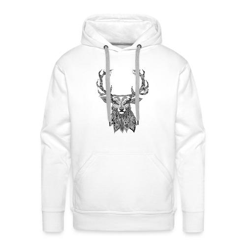 Ornate Buck Deer - Men's Premium Hoodie