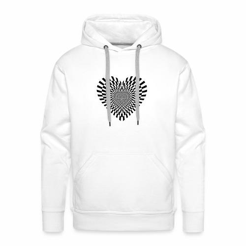 illusion heart - Men's Premium Hoodie