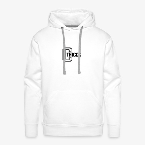 thiccc logo WHITE and BLACK - Men's Premium Hoodie