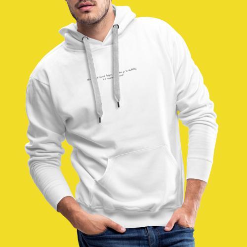 Afstand houden! - Mannen Premium hoodie