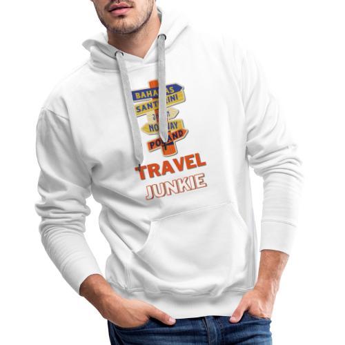 traveljunkie - i like to travel - Männer Premium Hoodie