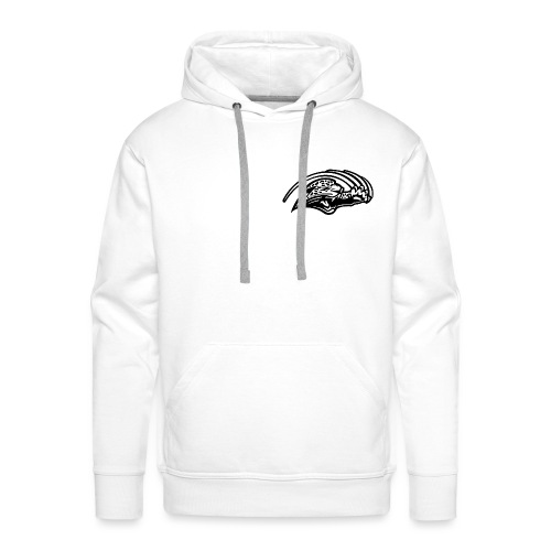 negatif logo noir png - Sweat-shirt à capuche Premium pour hommes