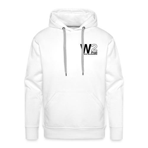logo black ww2 - Felpa con cappuccio premium da uomo