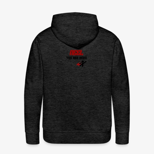NEEL You Are Hero - Bluza męska Premium z kapturem