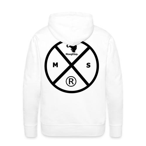 Cercle 4 noir MS - Sweat-shirt à capuche Premium pour hommes