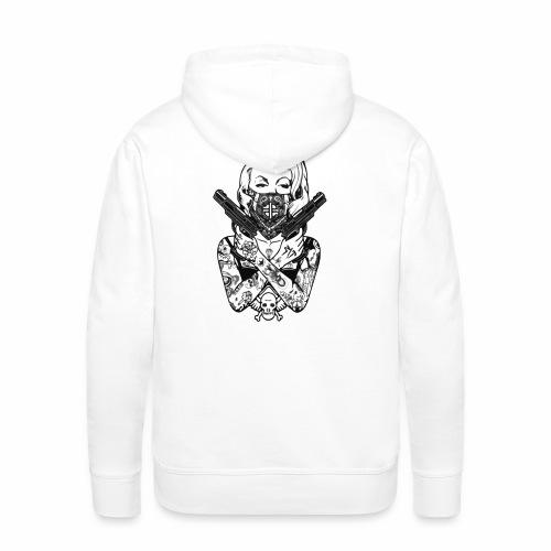Tatoo Gun - Sweat-shirt à capuche Premium pour hommes