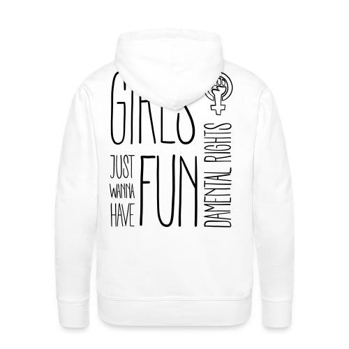 Girls just wanna have fundamental rights - Männer Premium Hoodie