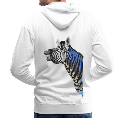 zebre un jour - Sweat-shirt à capuche Premium pour hommes