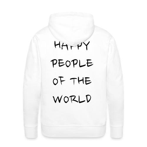Happy People Of The World - Mannen Premium hoodie