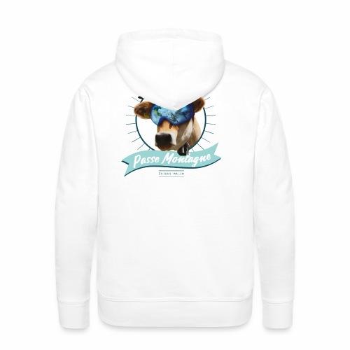 La vache masquée - Sweat-shirt à capuche Premium pour hommes