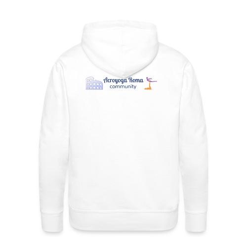 Acroyoga Roma community logo on back - Mannen Premium hoodie