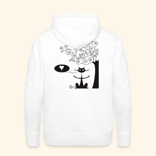 déclaration amour II - Sweat-shirt à capuche Premium pour hommes