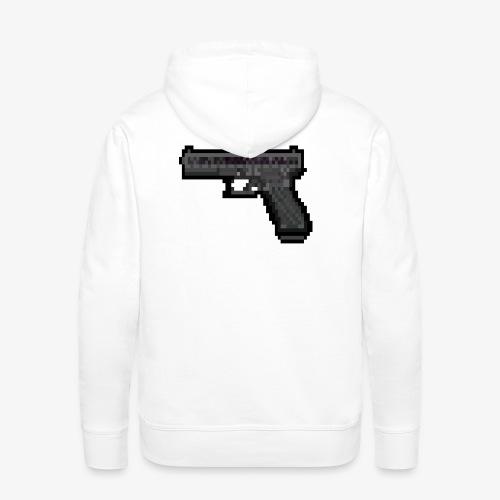 GLOCK PixelArt - Sweat-shirt à capuche Premium pour hommes