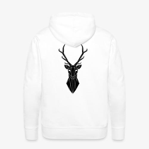 cervo stilizzato - Felpa con cappuccio premium da uomo
