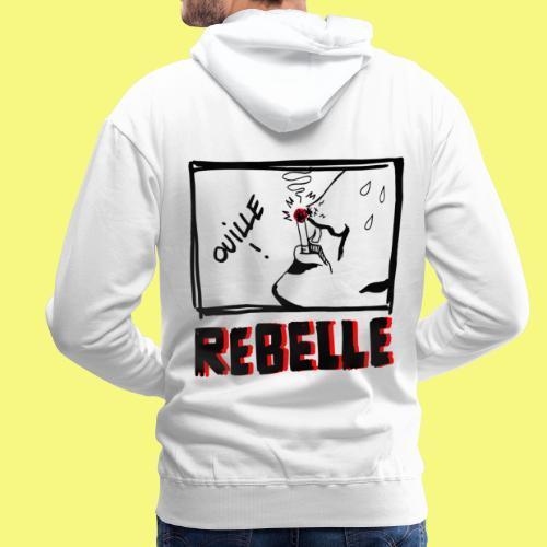 Rebelle - Sweat-shirt à capuche Premium pour hommes