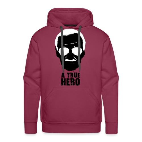 Un verdadero héroe del cómic - Sudadera con capucha premium para hombre