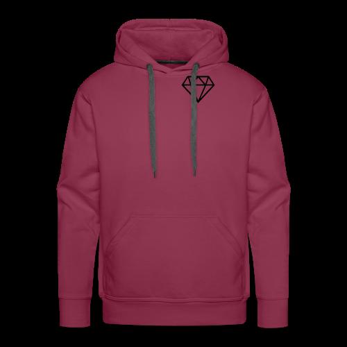 black diamond logo - Men's Premium Hoodie