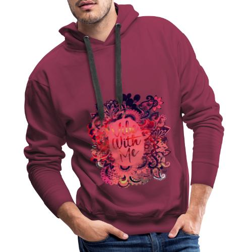 Vibe With Me Flower T Shirt - Sweat-shirt à capuche Premium pour hommes