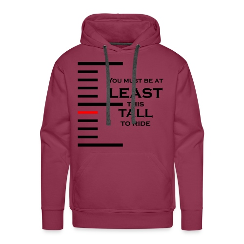 You must be at least this tall to ride - Sweat-shirt à capuche Premium pour hommes