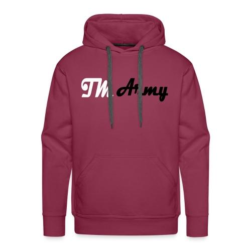 Hoodie - TM army - Herre Premium hættetrøje