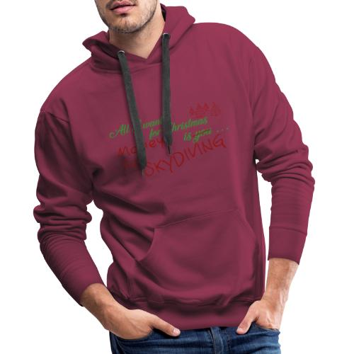 All I want for Christmas grün-rot - Männer Premium Hoodie