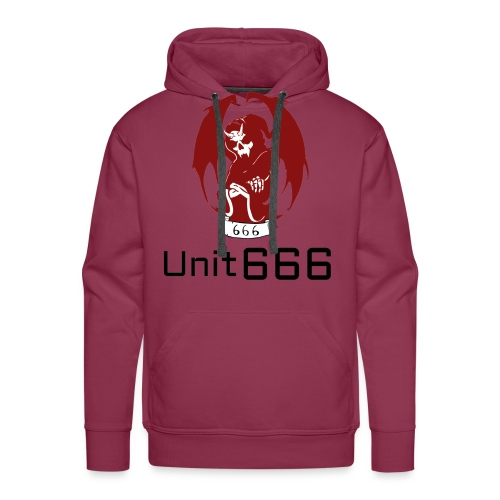 Unit 666 Front Print with text type 2. - Men's Premium Hoodie