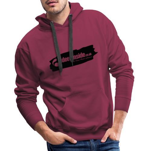 deepinside world reference marker logo black - Sweat-shirt à capuche Premium pour hommes