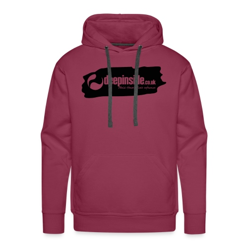 deepinside world reference marker logo black - Men's Premium Hoodie