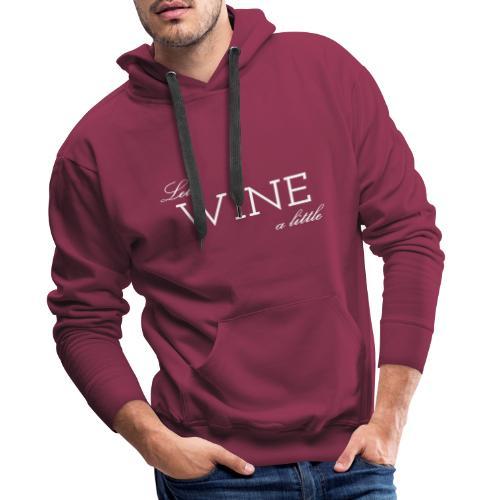 Colloqvinum - Lets wine a little white - Männer Premium Hoodie