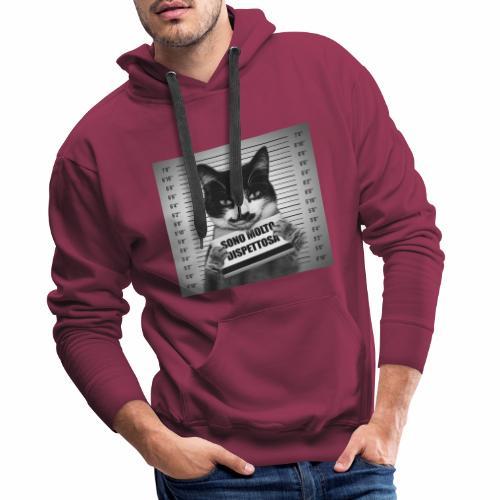 Micia Dispettosa - Felpa con cappuccio premium da uomo