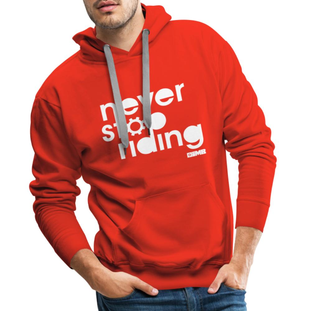 Never Stop Riding - Men's Premium Hoodie - red