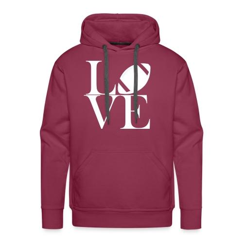 Love Symbol mit Football - Männer Premium Hoodie
