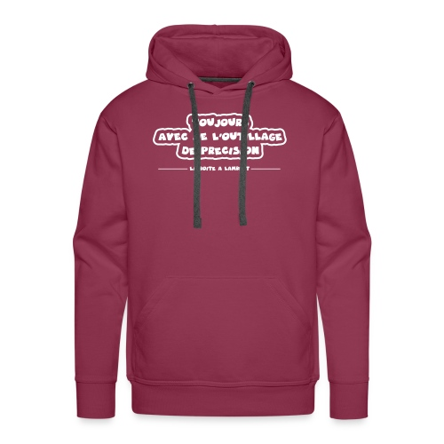 Toujours avec de l'outillage de précision ! - Sweat-shirt à capuche Premium pour hommes