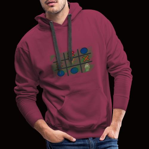 Tick, Tack, Toe (Joke Shirt) - Men's Premium Hoodie