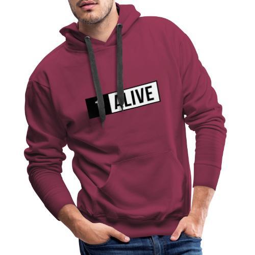 PUBG Print One Alive - Männer Premium Hoodie