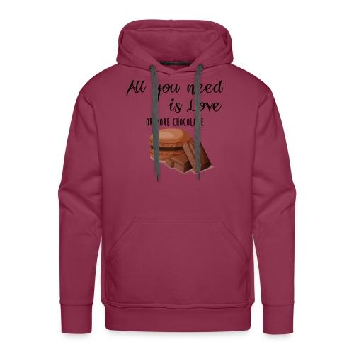 Tout le monde a besoin de chocolat - Sweat-shirt à capuche Premium pour hommes