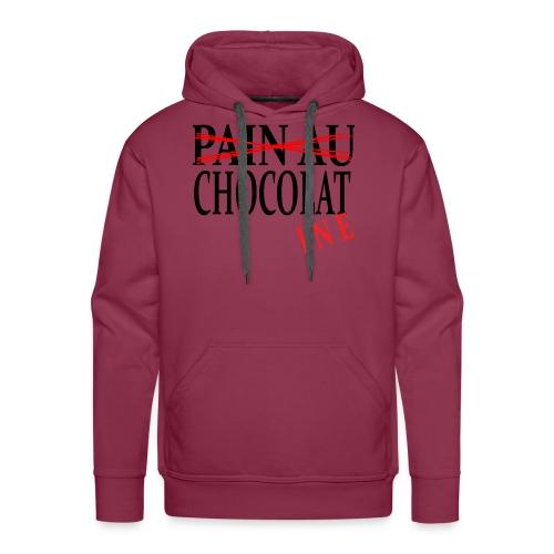 Pain au chocolat? Non, chocolatine - Sweat-shirt à capuche Premium pour hommes