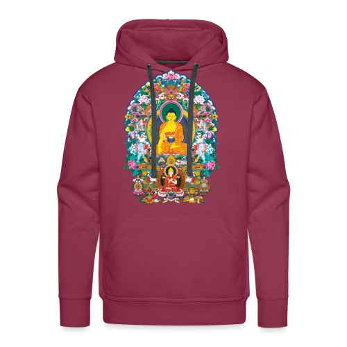 Buddha Shakyamuni Tsongkhapa - Bluza męska Premium z kapturem