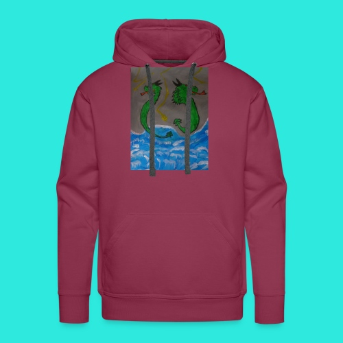 Waterdragons_in_the_thunder- - Mannen Premium hoodie