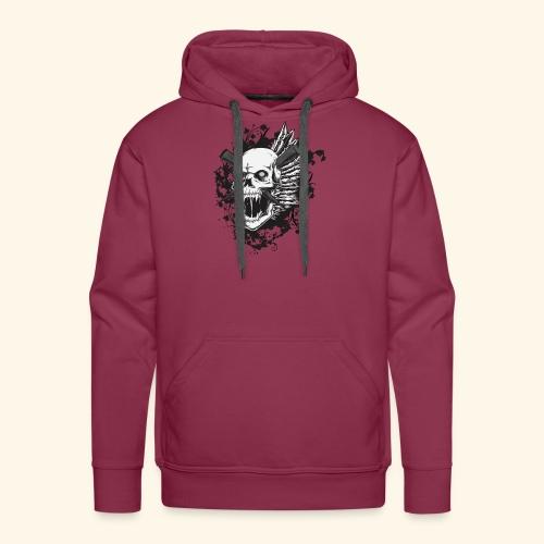 Suffering Skull - Men's Premium Hoodie