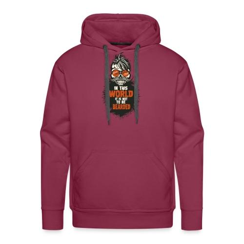 tete de mort citation hipster skull crane humour w - Sweat-shirt à capuche Premium pour hommes