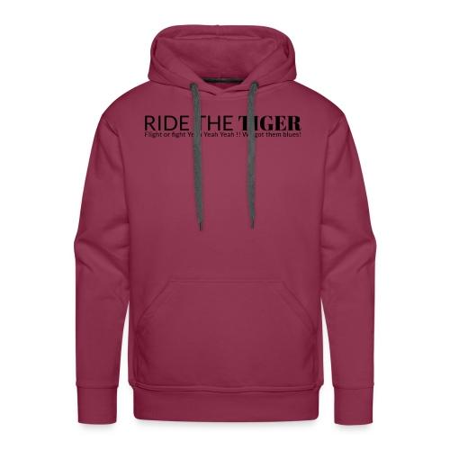 Ride the tiger logo black - Sweat-shirt à capuche Premium pour hommes