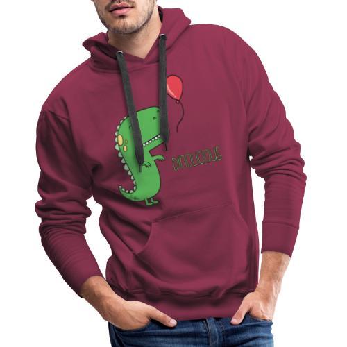 Dinolicious - Felpa con cappuccio premium da uomo