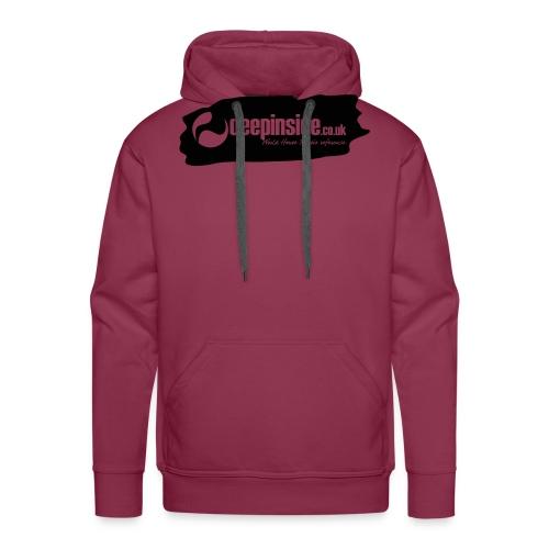 deepinside world reference marker logo black - Men's Premium Hoodie