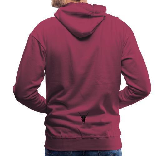 Bufa Skull Black - Sweat-shirt à capuche Premium pour hommes