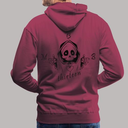 MB13 - Skull - Men's Premium Hoodie