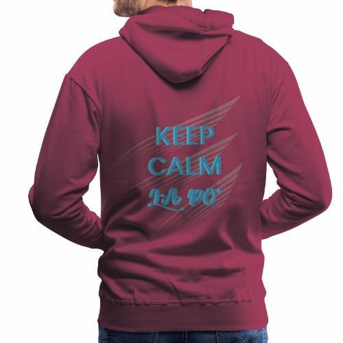 Lapo decoupe BLEU - Sweat-shirt à capuche Premium pour hommes
