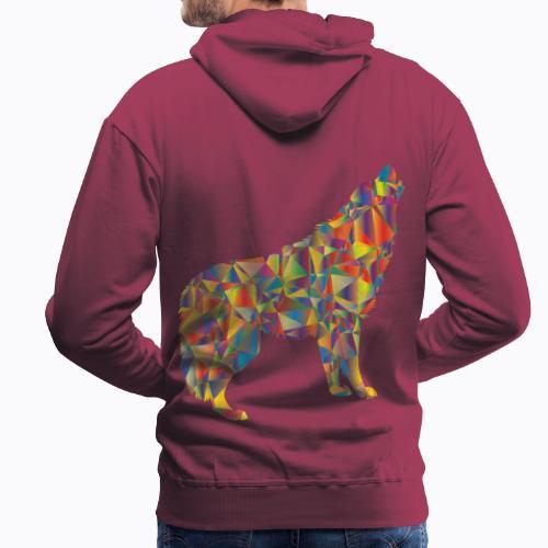 howling colorful - Men's Premium Hoodie