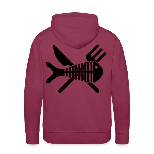 Poisson couvert - Sweat-shirt à capuche Premium pour hommes